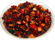 Чай фруктовый Клубничный пунш, 500 г, крупнолистовой фруктовый чай